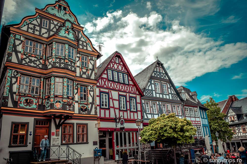 Orășelul idilic Idstein: case tradiționale germane